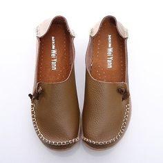 Millones de EUR para mujer de cuero confort Casual caminar arqueado zapatos planos mocasines Moccasin diapositiva