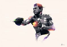 Uniquely Styled Illustrations of Sports Heroes and Athletes by Bram Vanhaeren