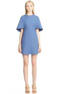 Valentino Cape Back Wool & Silk Sheath Dress available at #Nordstrom
