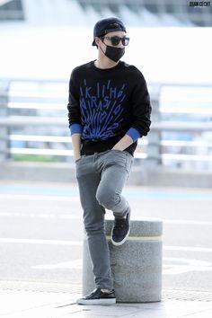 150911: EXO Lay (Zhang Yixing); Incheon Airport to Chongqing Airport #exom #fashion #style