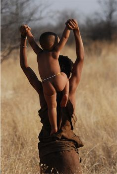 nude african san