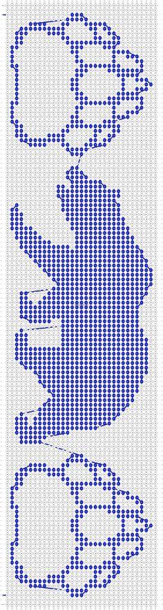 Alpha Pattern added by squidbites - Perlmuster Sitricken Native Beading Patterns, Beadwork Designs, Beaded Earrings Patterns, Seed Bead Patterns, Native Beadwork, Native American Beadwork, Cross Stitch Patterns, Diy Bead Embroidery, Native American Patterns