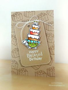 Belated Birthday card by cathy.fong, via Flickr
