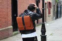 Albion Backpack - street style Leather Satchel, Leather Backpack, Sling Backpack, Parka, Street Style, Backpacks, London, Unisex, Bags