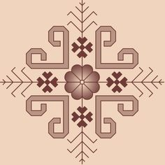 sketched up my next (possible) tattoo! inspired/derived from Latvian embroidery patterns.