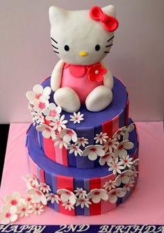Creative Two Tier Hello Kitty Cake Design Ideas