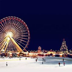 I want to ice skate at Hyde park in London during the Winter Wonderland celebration!