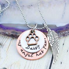 Personalized Pet Memorial Necklace  Pet Memorial Jewelry