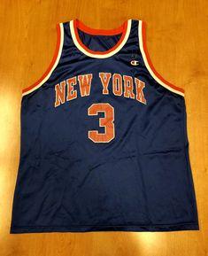 Vintage 1995 John Starks New York Knicks Champion Jersey Size 48 hat shirt  charles oakley nba finals penny hardaway latrell sprewell 581eadcb7
