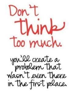 No Kidding - how many people overthink problems