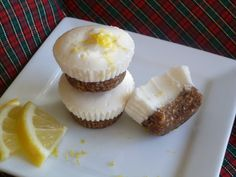 Mini Lemon Cheesecake with Gingered Date Crust (AIP, nut free, dairy free, refined sugar free)