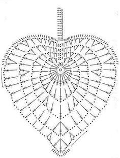 Ideas Crochet Heart Diagram Link For 2019 Crochet Diy, Filet Crochet, Freeform Crochet, Crochet Diagram, Crochet Chart, Crochet Home, Thread Crochet, Love Crochet, Irish Crochet