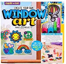 Made By Me Create Your Own Window Art by Horizon Group USA, Paint Your Own Suncatchers, Includes 12 Suncatchers & More, Assorted Colors in Craft Kits. Crafts For Kids To Make, Gifts For Kids, How To Make, Fireworks Craft, Plastic Pumpkins, Rainy Day Crafts, Window Art, Window Clings, Booklet Design