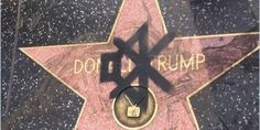 An American Hero Spray-Painted a Mute Sign on Donald Trump's Hollywood Star