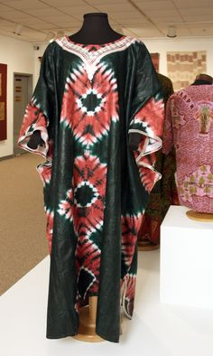"""Resist Dyed m'Boubou featured in """"Measure of Earth: Textiles and Territory in West Africa"""" opening at the African American Cultural Center Gallery (Sept 19 - Dec 18, 2013)   Gregg Museum of Art & Design   www.ncsu.edu/gregg   NC State University"""