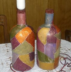 1 million+ Stunning Free Images to Use Anywhere Painted Wine Bottles, Bottles And Jars, Glass Bottles, Diy Projects To Make And Sell, Glass Bottle Crafts, Free To Use Images, Altered Bottles, Bottle Painting, Centerpiece Decorations