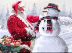 Художник-самоучка Richard MacNeil (British, 1958)... Время чудес приближается к городу. Снежный декабрь застыл в ожидании…. Обсуждение на LiveInternet - Российский Сервис Онлайн-Дневников
