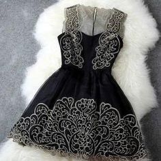 Pure Elegance Black and Gold Dress