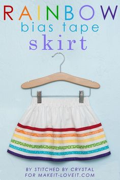 Rainbow Bias Tape Skirt…..perfect for spring! --- Make It and Love It