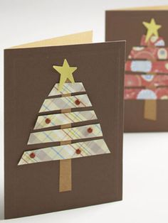 Make a Christmas Tree with Paper Scraps