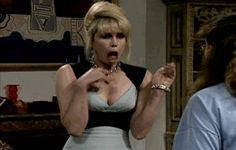 Patsy Stone | abfab Patsy And Edina, Patsy Stone, Jennifer Saunders, Ab Fab, British Comedy, Liposuction, Absolutely Fabulous, Golden Girls, I Laughed