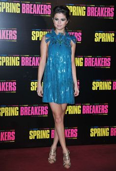 Selena Gomez flaunts skin in a Gucci dress at the Paris premiere of 'Spring Breakers'
