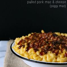 Pulled Pork Mac and Cheese {Piggy Mac}.  Look Kelsey Pickard, it's even named after you!