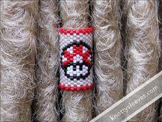 Dreadlock Bead Peyote Stitch Dread Sleeve Mario by knottysleeves