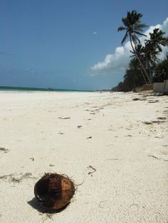 White Sands......This is what I dream of at night. Including the coconut! I remember 3 distinct kinds of sand. Mombasa, Kenya.