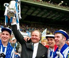 Big Ron with the Rumbelows Cup