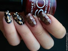 Dark and elegant manicure created by Maria!