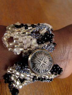 Silvertones  Freeform peyote  Bracelet  RESERVED от Stellaltinaan