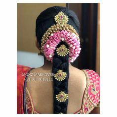 South Indian Wedding Hairstyles, Bridal Hairstyle Indian Wedding, Indian Bridal Wear, Indian Hairstyles, Bridal Braids, Bridal Hairdo, Hairdo Wedding, Saree Hairstyles, Bride Hairstyles