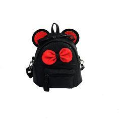 New Female bag Mickey backpacks pu leather Women Backpack Mickey ears Sweet  girl College Wind Travel 384908a1e13b6