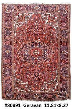 8x12 Heriz Haris Handmade Persian Natural Wool Rug