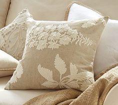 botanical pillow cover.