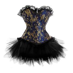Plus Size Sexy Lolita FANCY DRESS Corset Overbust Bustier and Tutu Skirt Set * Don't get left behind, see this great  product : Plus size lingerie