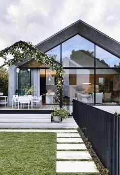 Australian Architecture, Australian Homes, Architecture Design, Concrete Architecture, Victorian Cottage, Victorian Homes, Victorian Decor, Home Interior, Interior And Exterior