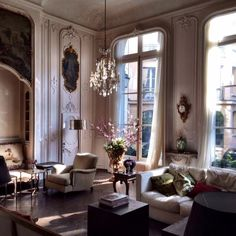 Grand Salon | Worldly Design: Adventures in Paris by Patrick Delanty #parisian_style_apartment