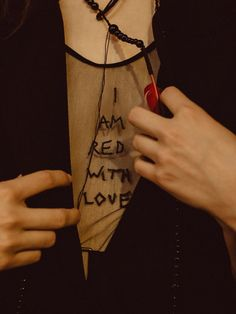 @happyandstupid  I am red with love