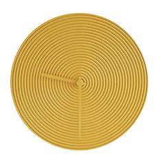 Ring Wall Clock - Yellow