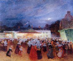Carnival at Night (Ferdinand du Puigaudeau - )