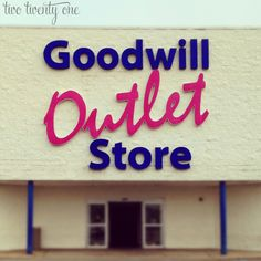 I thought I would go into more detail about the Goodwill Outlet today since many of you seemed so intrigued yesterday.  As luck would have it, my 9AM appointment flaked on me yesterday morning so I had time to hit up the Outlet before my next appointment.