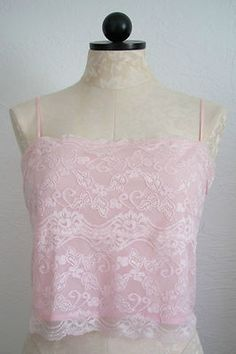 LILLIAN LOROW Romantic Pink Lace Lined Camisole Top- XL $20