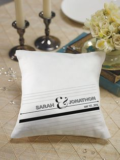 Notable Personalized Ring Pillow