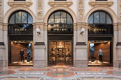 Italian designer Martino Gamper has created display spaces that form tight corners in the windows of fashion house Prada's boutiques worldwide