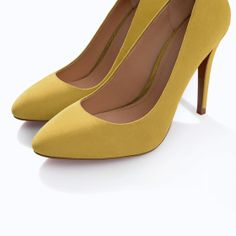 ZARA - NEW THIS WEEK - COLORED HEEL COURT SHOE