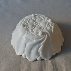 white milk glass footed bowl