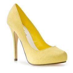 yellow heels!