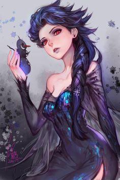 "lancifolia:  "" Dark Elsa  (source: Furymanura)  """